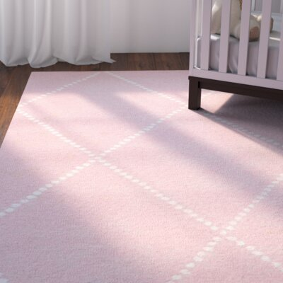 Nat Diamond Hand-Tufted Baby Pink Area Rug Rug Size: Runner 26 x 8