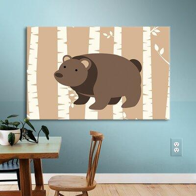 "Bear Birch 1 Canvas Art Size: 24"" H x 32"" W x 2"" D VVRO2963 28844635"
