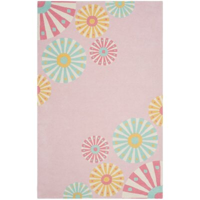 Candy Shop Hand-LoomedPink/Red/Yellow Area Rug Rug Size: 4 x 6