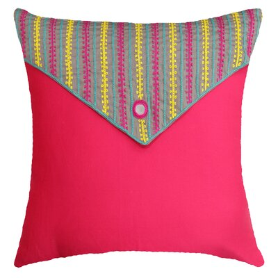Nicholls Handcrafted Square Cotton Throw Pillow
