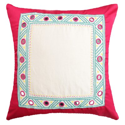 Nicholls Traditional Handcrafted Cotton Throw Pillow Color: Pink