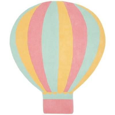 Hot Air Balloon Hand-Tufted Peony Area Rug Rug Size: Rectangle 57 x 65