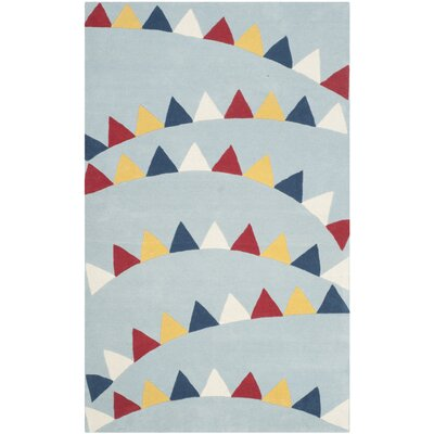 Party Time Hand-Loomed Blue/Red Area Rug Rug Size: 5' x 8'