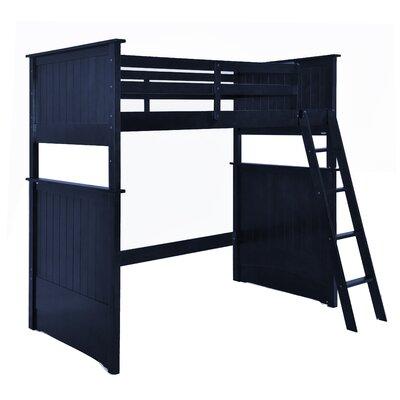 Leann Twin Loft Bed Finish: Navy