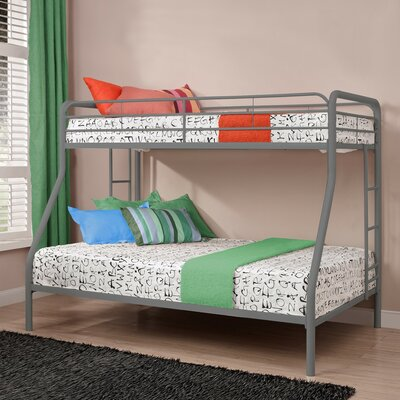 Maryanne Twin Over Full Bunk Bed Color: Silver