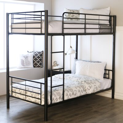 Malia Twin over Twin Bunk Bed Color: Black