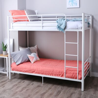 Malia Twin over Twin Bunk Bed Color: White