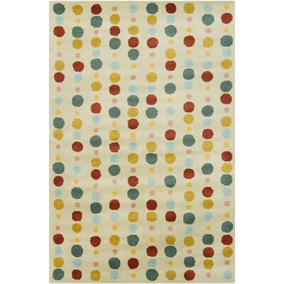 Brenda Hand Tufted Wool Light Green/Burgundy Area Rug
