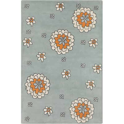 Roberto Hand Tufted Wool Cream/Gray Area Rug Rug Size: 5 x 76