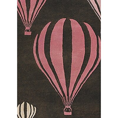 Caddy Balloon Pink/Brown Area Rug Rug Size: 79 x 106