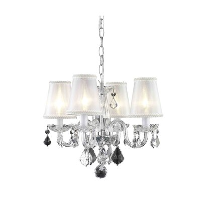 Andie  4-Light Shaded Chandelier Finish: Chrome
