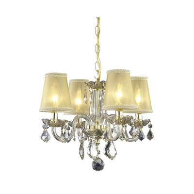 Andie  4-Light Shaded Chandelier Finish: Golden Shadow
