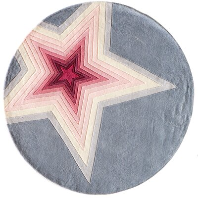 Fabio Hand-Tufted Pink/Gray Kids Rug Rug Size: Rectangle 4 x 6