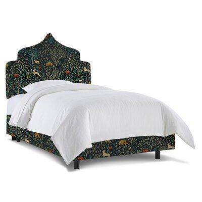 Graciela Upholstered Panel Bed Size: Twin, Fabric: Folkland Admiral