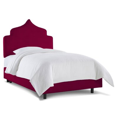 Graciela Upholstered Panel Bed Size: Twin, Fabric: Regal Purple Wine