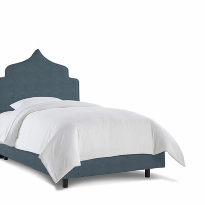 Graciela Upholstered Panel Bed Size: Twin, Fabric: Regal Colonial Blue