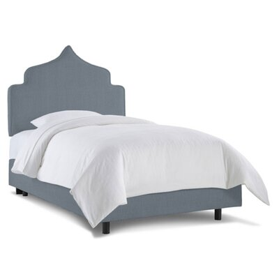 Graciela Upholstered Panel Bed Size: Twin, Fabric: Linen Denim