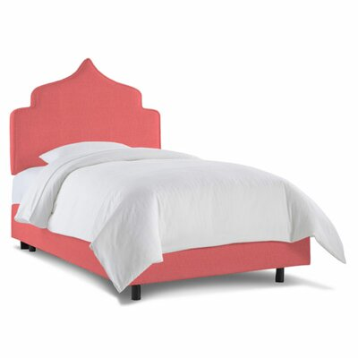 Graciela Upholstered Panel Bed Size: Twin, Color: Linen Coral