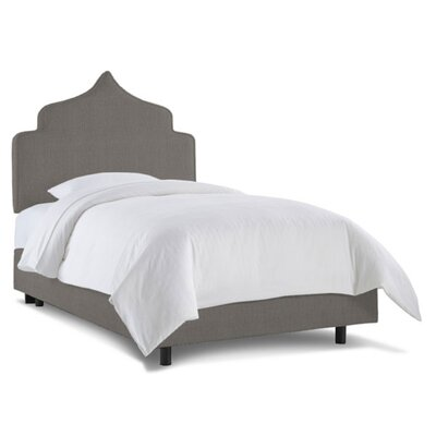 Graciela Upholstered Panel Bed Size: Twin, Color: Linen Grey