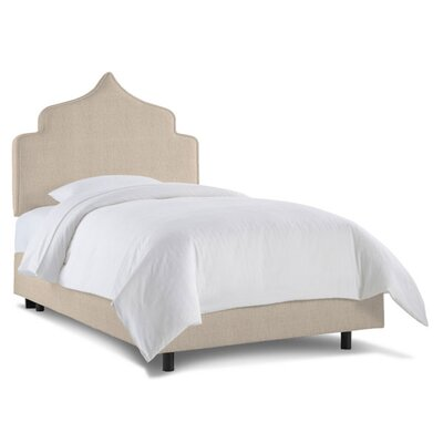 Graciela Upholstered Panel Bed Size: Twin, Color: Linen Talc