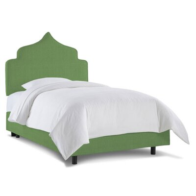 Graciela Upholstered Panel Bed Size: Full, Color: Linen Kelly Green