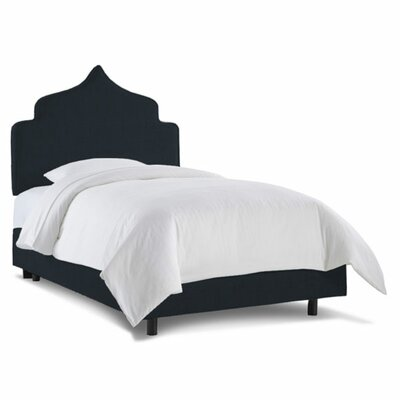 Graciela Upholstered Panel Bed Size: Twin, Fabric: Linen Navy