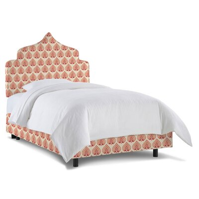 Graciela Upholstered Panel Bed Size: Twin, Fabric: Bodhi Red