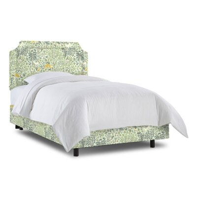 Grant Bed Size: Full, Fabric: Folkland Aquatint