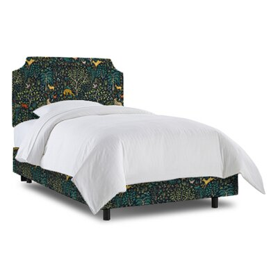 Grant Bed Size: Full, Fabric: Folkland Admiral