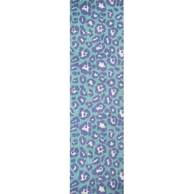Anita Hand-Tufted Blue Area Rug Rug Size: Runner 23 x 8