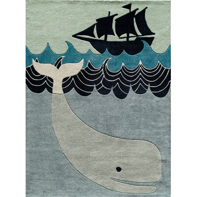 Johnnie Hand-Tufted Blue/Gray Kids Rug Rug Size: Rectangle 8 x 10