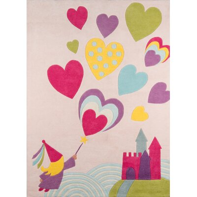 Johnnie Hand-Tufted Pink/Blue Kids Rug Rug Size: Rectangle 3 x 5