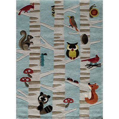 Johnnie Hand-Tufted Light Blue Kids Rug Rug Size: Rectangle 5 x 7