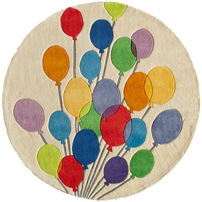 Johnnie Hand-Tufted Blue/Green/Beige Kids Rug Rug Size: Round 5