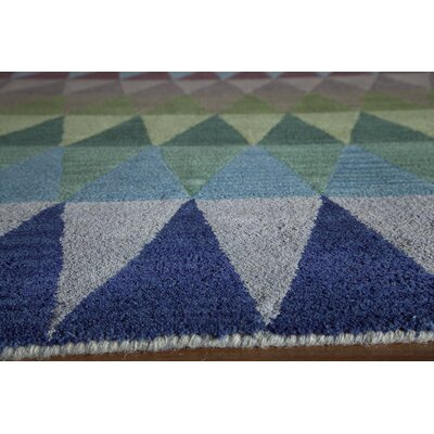 Eli Hand-Tufted Blue/Green/Yellow Kids Rug Rug Size: 36 x 56