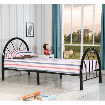 Jonathon Twin Metal Bed Color: Black
