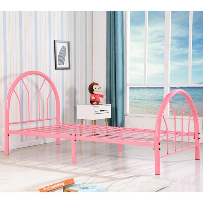 Jonathon Twin Metal Bed Color: Pink
