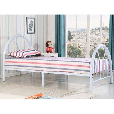 Jonathon Twin Metal Bed Upholstery: White