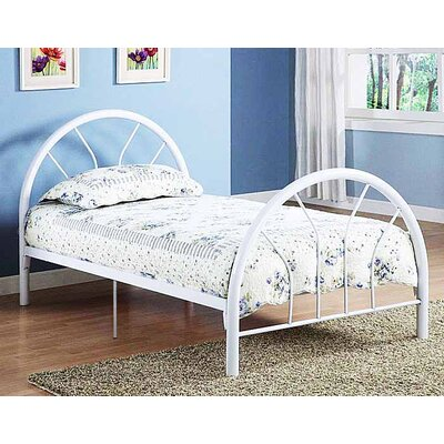 Jonathon Twin Metal Bed Color: White