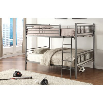 Shayne Full Over Full Bunk Bed Color: Grey