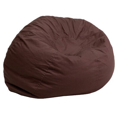 Small Beads Bean Bag Chair Upholstery: Brown