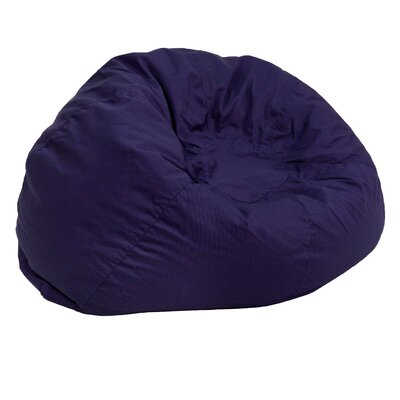 Small Beads Bean Bag Chair Upholstery: Navy