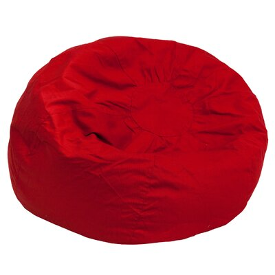 Small Beads Bean Bag Chair Upholstery: Red