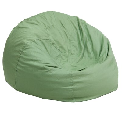 Small Beads Bean Bag Chair Upholstery: Green