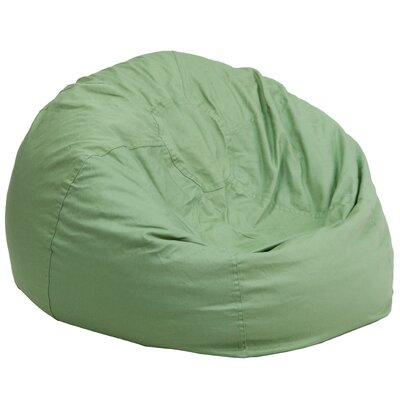 Large Beads Bean Bag Chair Upholstery: Green