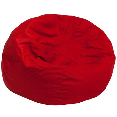 Large Beads Bean Bag Chair Upholstery: Red