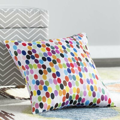 Jaden Christopher Syre Dots Throw Pillow Size: 18 H  x 18 W