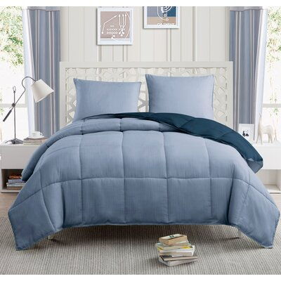 Yesenia 3 Piece Twin Comforter Set Color: Navy