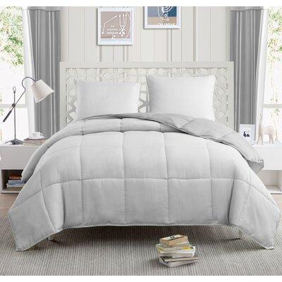 Yesenia 3 Piece Twin Comforter Set Color: Gray
