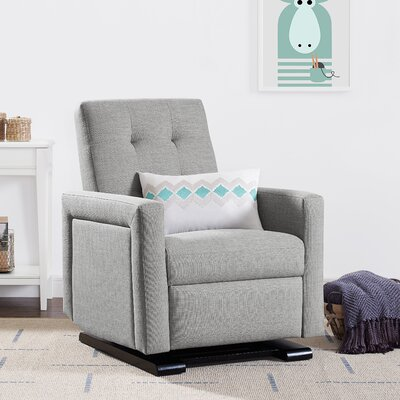 Juana Manual Rocker Recliner Upholstery: Gray